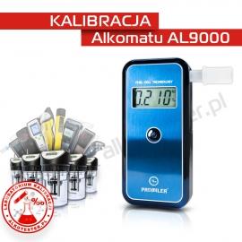 Kalibracja Alkomatu AL 9000 - Świadectwo Kalibracji