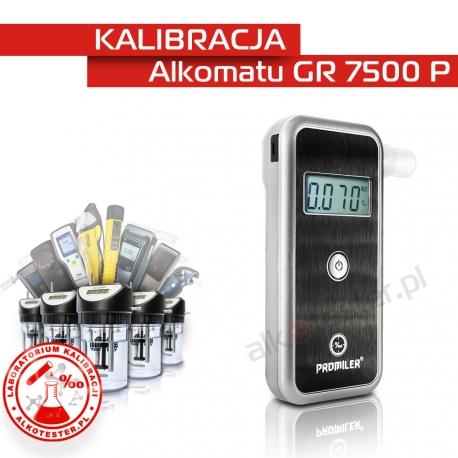 Kalibracja Alkomatu GR 7500 P