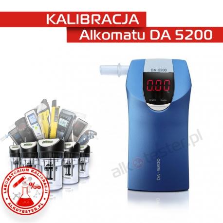 Kalibracja Alkomatu  DA5200 - Świadectwo Kalibracji
