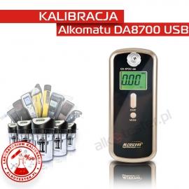 Kalibracja Alkomatu DA 8700 USB- Świadectwo Kalibracji