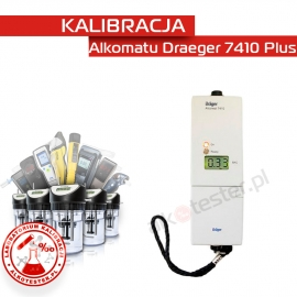 Kalibracja Alkomatu Dräger7410 Plus - Świadectwo Kalibracji